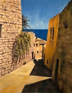 Monemvasia Street, August midday. Oil on canvas; 30x24in; SOLD