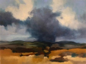 Storm over Perthshire hills. Oil on canvas; 20x14in
