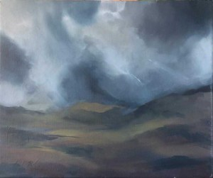 Black Mount for Rannoch moor. Oil on canvas; 12x10in