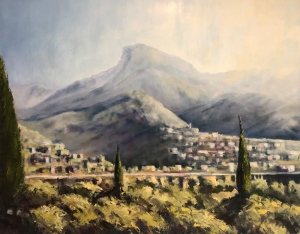 Tyros,Laconia late afternoon light. Oil on canvas; 30x24in