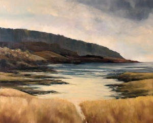 Wester Ross cove. Oil on canvas; 30x24in