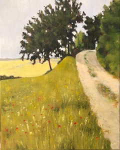 Track to Todi. Oil on canvas; 20x16in