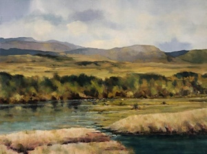 Autumn in the Trossachs. Oil on canvas; 31.5x25in