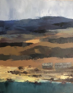Abandoned Croft, Wester Ross. Oil on canvas, unframed, 20x16ins