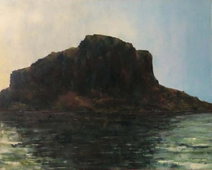 Monemvasia rock, dawn. Oil on canvas; 30x24in